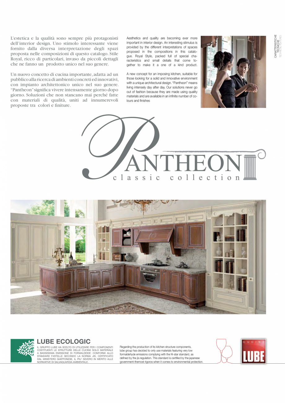 Pagina 3 - Bucataria Pantheon - caracteristici tehnice MOBILA VOGUE Fisa tehnica Italiana, Engleza...