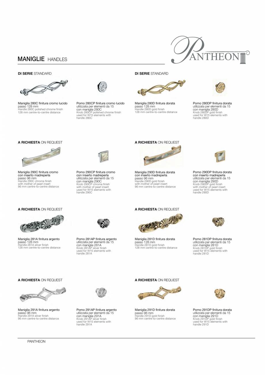Pagina 14 - Bucataria Pantheon - caracteristici tehnice MOBILA VOGUE Fisa tehnica Italiana, Engleza ...