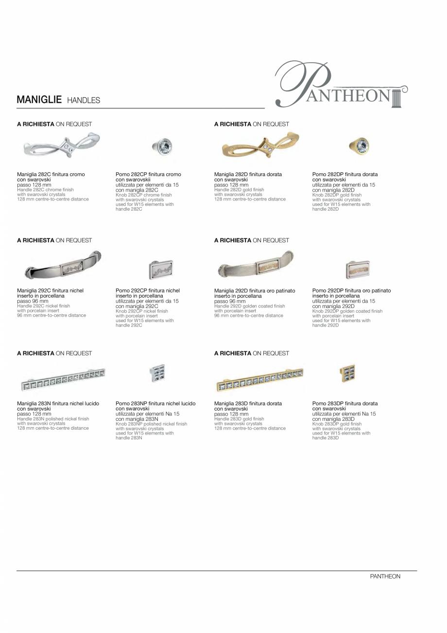 Pagina 15 - Bucataria Pantheon - caracteristici tehnice MOBILA VOGUE Fisa tehnica Italiana, Engleza ...
