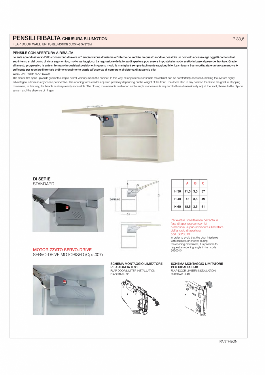 Pagina 23 - Bucataria Pantheon - caracteristici tehnice MOBILA VOGUE Fisa tehnica Italiana, Engleza ...