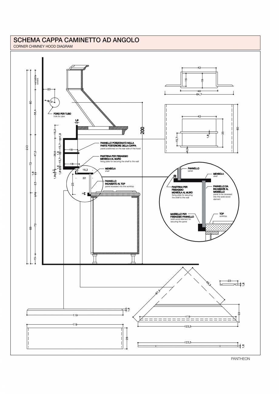 Pagina 32 - Bucataria Pantheon - caracteristici tehnice MOBILA VOGUE Fisa tehnica Italiana, Engleza ...