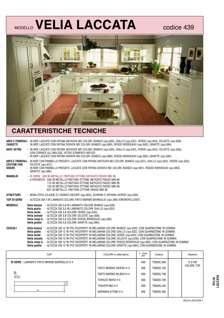 Pagina 1 - Bucatarie Velia Laccata - caracteristici tehnice MOBILA VOGUE Fisa tehnica Italiana,...