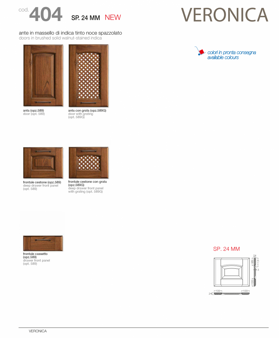 Pagina 12 - Bucatarie Veronica - caracteristici tehnice MOBILA VOGUE Fisa tehnica Italiana, Engleza ...