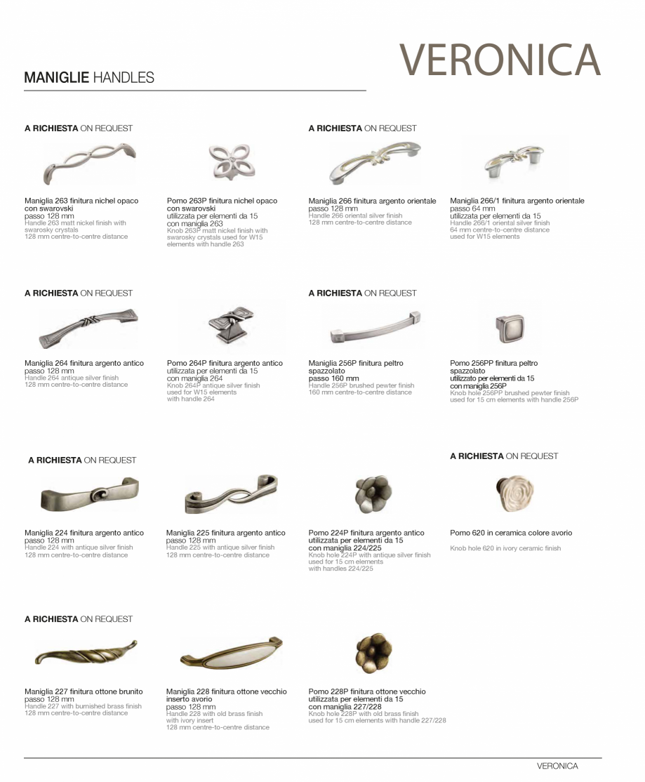 Pagina 27 - Bucatarie Veronica - caracteristici tehnice MOBILA VOGUE Fisa tehnica Italiana, Engleza ...