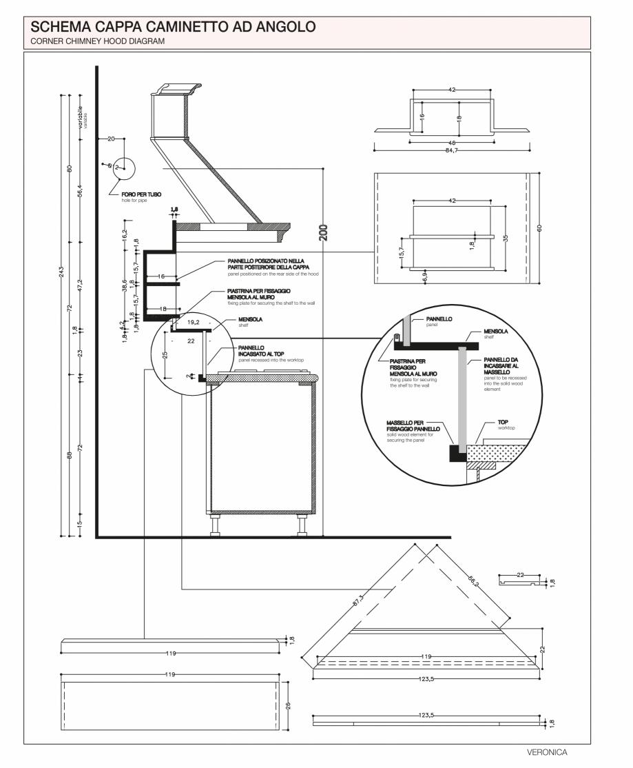 Pagina 40 - Bucatarie Veronica - caracteristici tehnice MOBILA VOGUE Fisa tehnica Italiana, Engleza ...