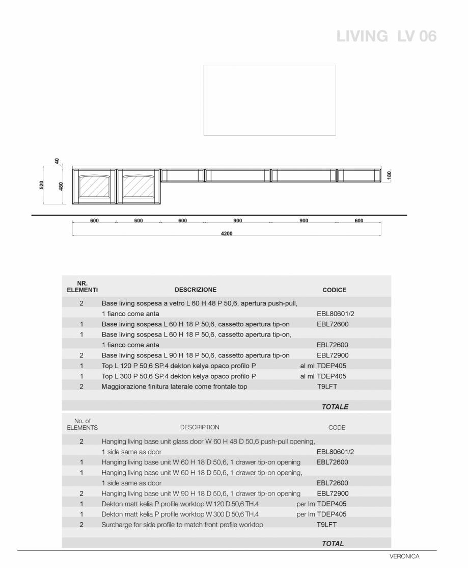 Pagina 55 - Bucatarie Veronica - caracteristici tehnice MOBILA VOGUE Fisa tehnica Italiana, Engleza ...