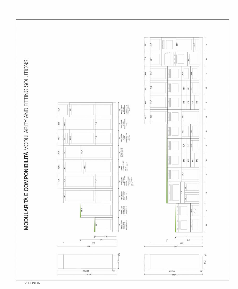 Pagina 64 - Bucatarie Veronica - caracteristici tehnice MOBILA VOGUE Fisa tehnica Italiana, Engleza ...