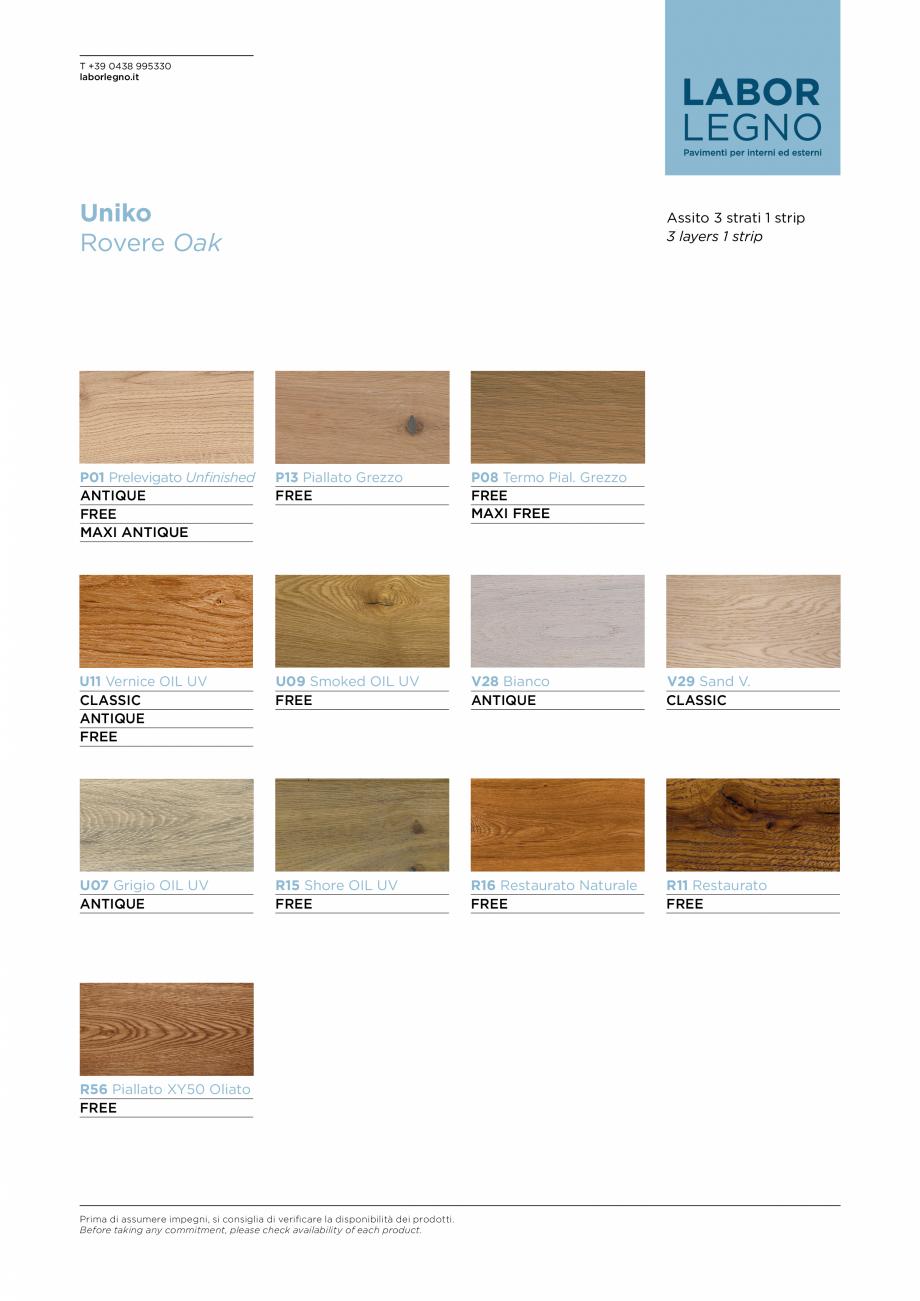 Pagina 2 - Parchet din lemn de stejar MOBILA VOGUE Uniko Fisa tehnica Italiana, Engleza  la...