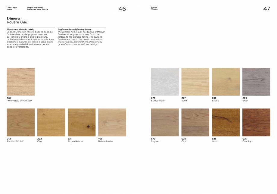 Pagina 1 - Prezentare parchet multistrat  stejar MOBILA VOGUE Dimora Catalog, brosura Engleza,...