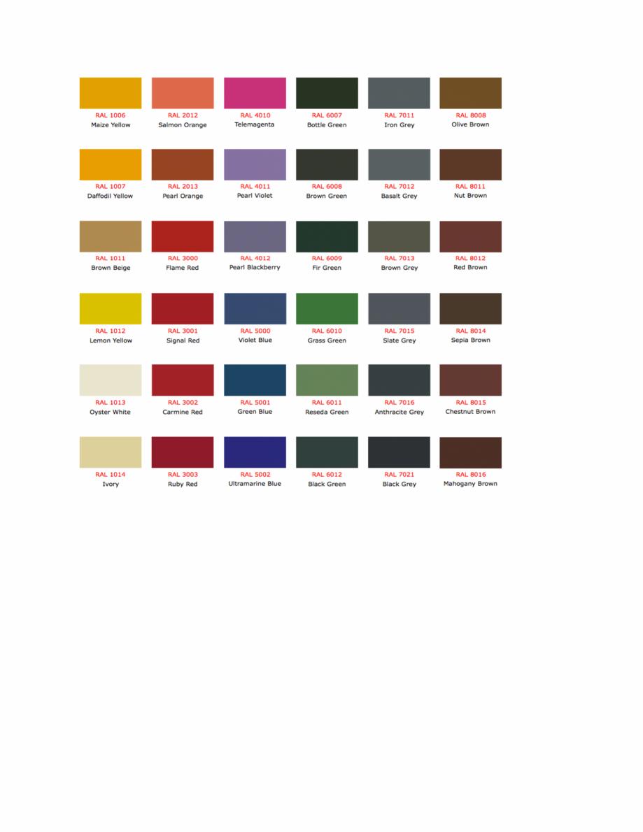 Pagina 2 - Culori RAL pentru ferestre din lemn masiv stratificat SM WOOD PRODCOM Fisa tehnica Romana...