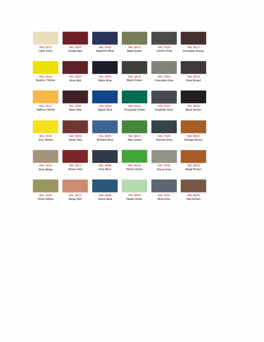 Pagina 3 - Culori RAL pentru ferestre din lemn masiv stratificat SM WOOD PRODCOM Fisa tehnica Romana...