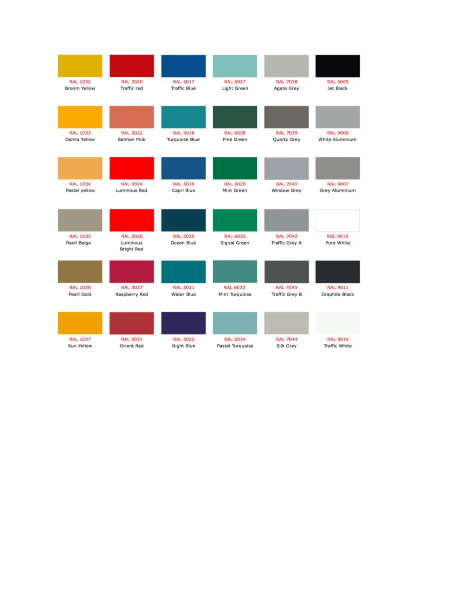 Pagina 5 - Culori RAL pentru ferestre din lemn masiv stratificat SM WOOD PRODCOM Fisa tehnica Romana...