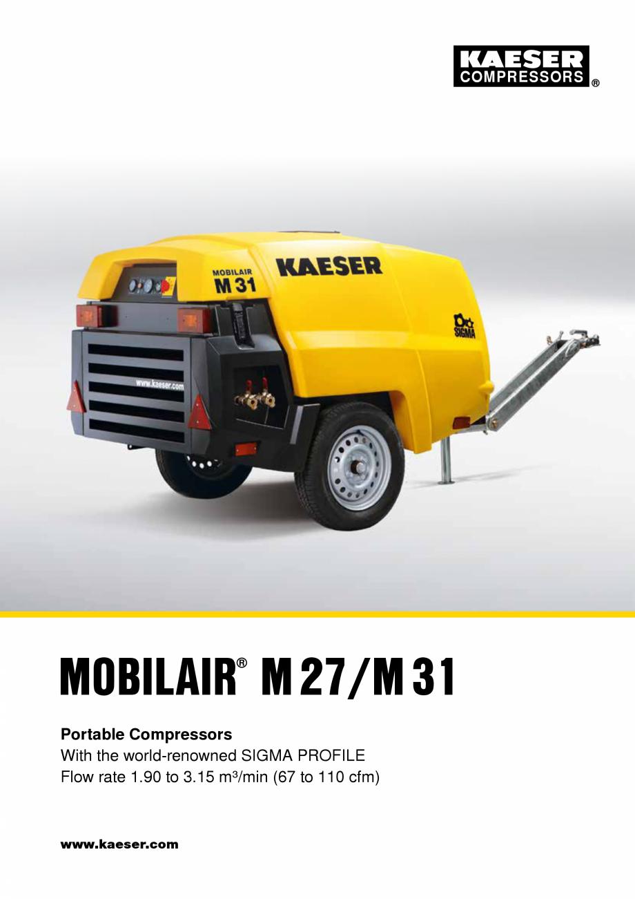 Pagina 1 - Seriile M27 - M31 KAESER KOMPRESSOREN Catalog, brosura Engleza COMPRESSORS  MOBILAIR...