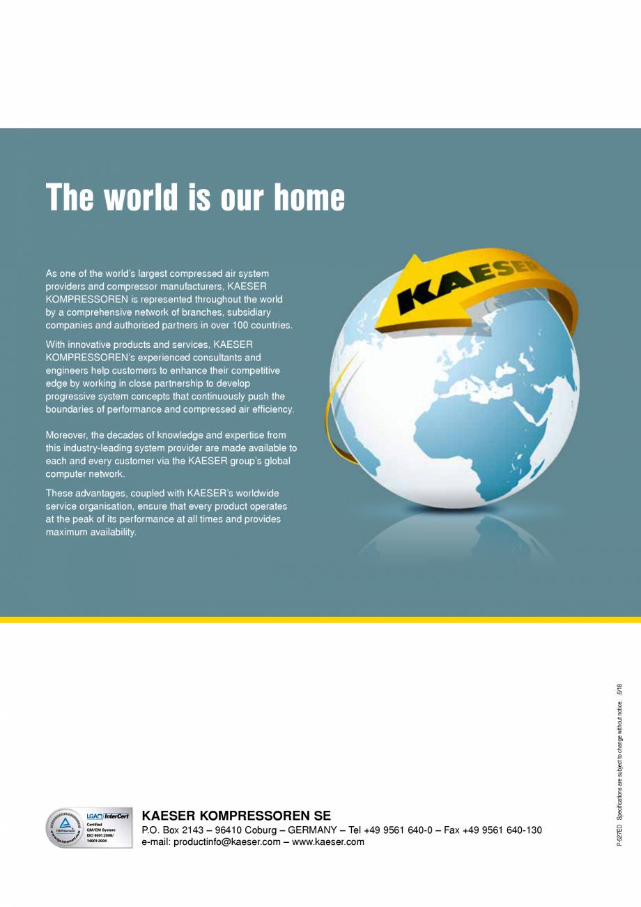 Pagina 12 - Seriile M27 - M31 KAESER KOMPRESSOREN Catalog, brosura Engleza