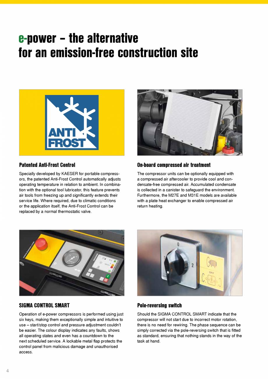Pagina 4 - Seriile M27E-M31E-M50E KAESER KOMPRESSOREN Catalog, brosura Engleza ere required, due to ...