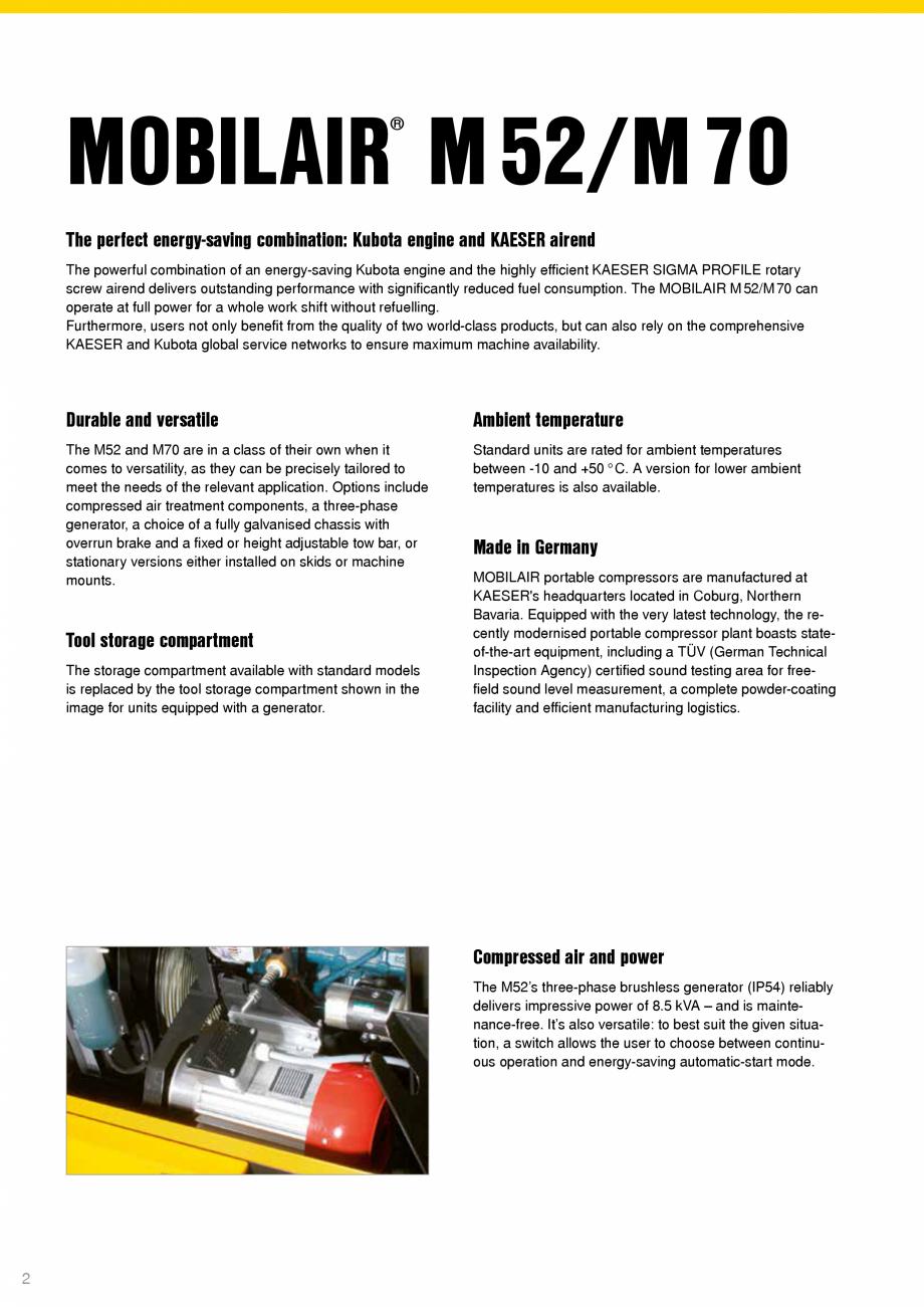 Pagina 2 - Seriile M52 - M70 KAESER KOMPRESSOREN Catalog, brosura Engleza ment components, a...