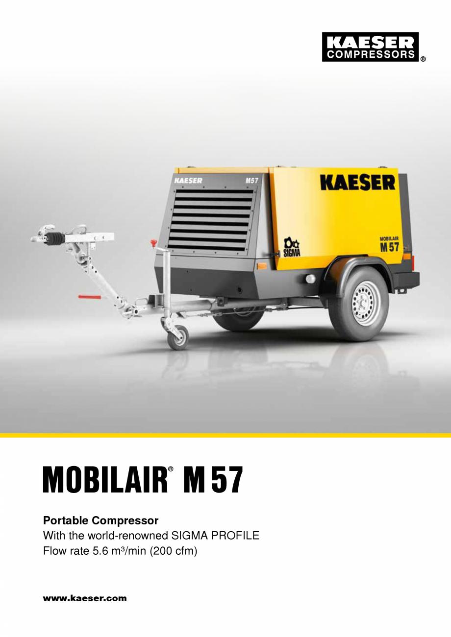 Pagina 1 - Seria M57 KAESER KOMPRESSOREN Catalog, brosura Engleza MOBILAIR M57 ®  Portable...