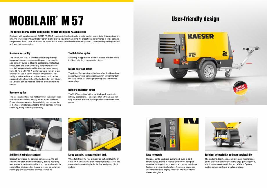 Pagina 2 - Seria M57 KAESER KOMPRESSOREN Catalog, brosura Engleza  also available for use in colder ...