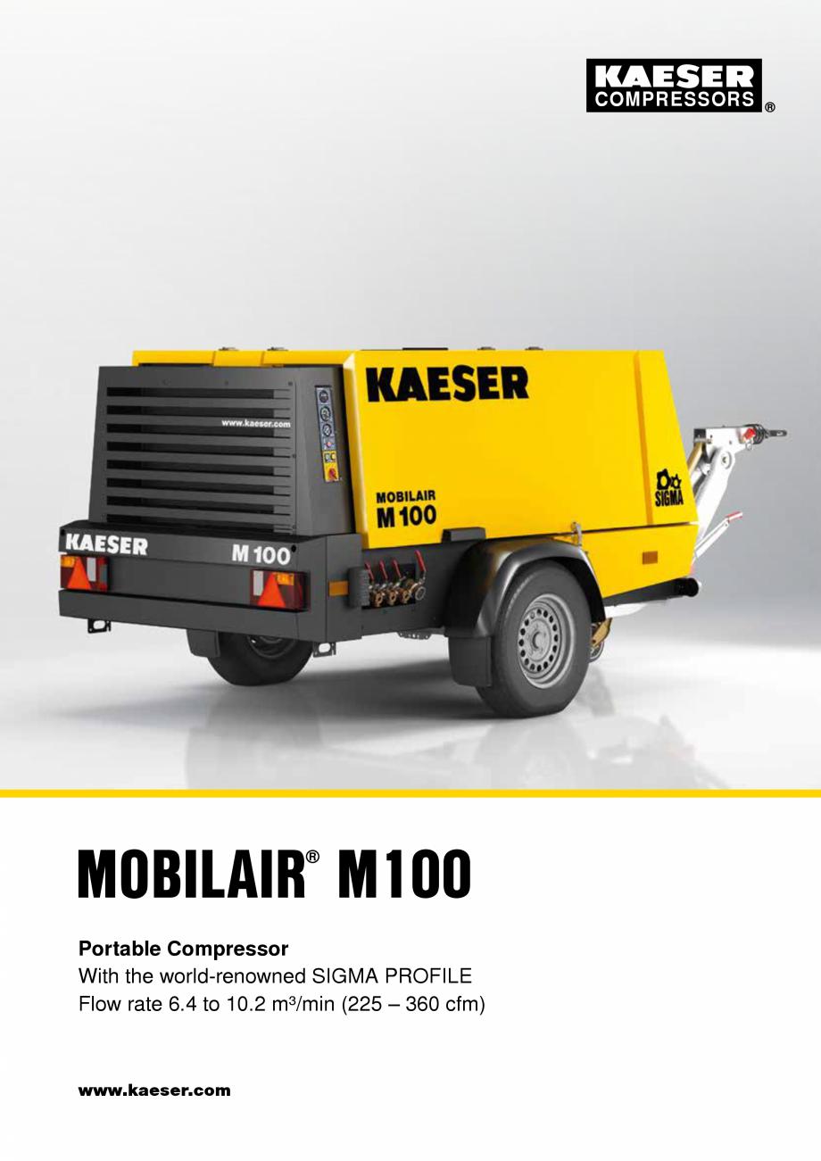 Pagina 1 - Seria M100 KAESER KOMPRESSOREN Catalog, brosura Engleza COMPRESSORS  MOBILAIR M100 ® ...
