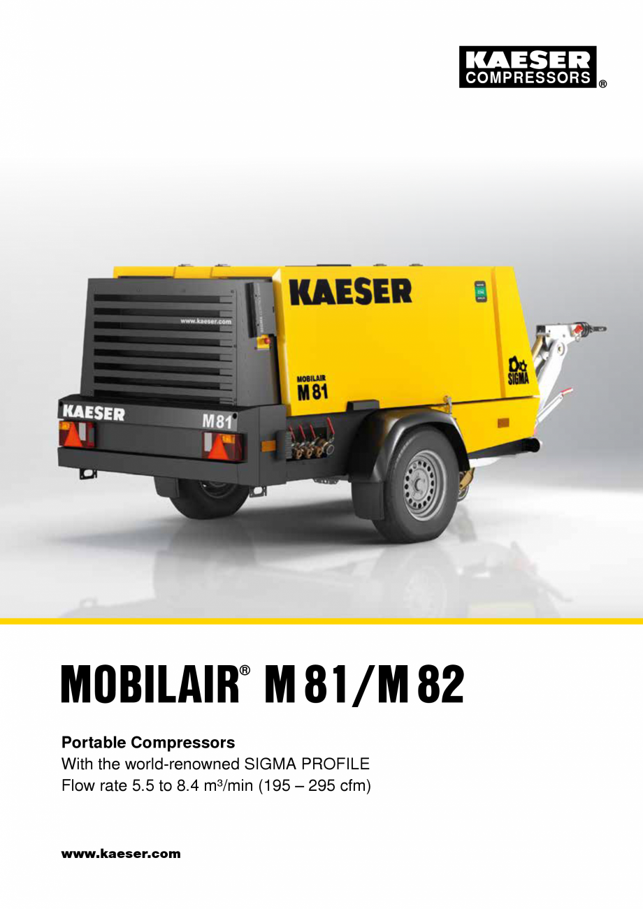 Pagina 1 - Seriile M81 - M82 KAESER KOMPRESSOREN Catalog, brosura Engleza COMPRESSORS  MOBILAIR...