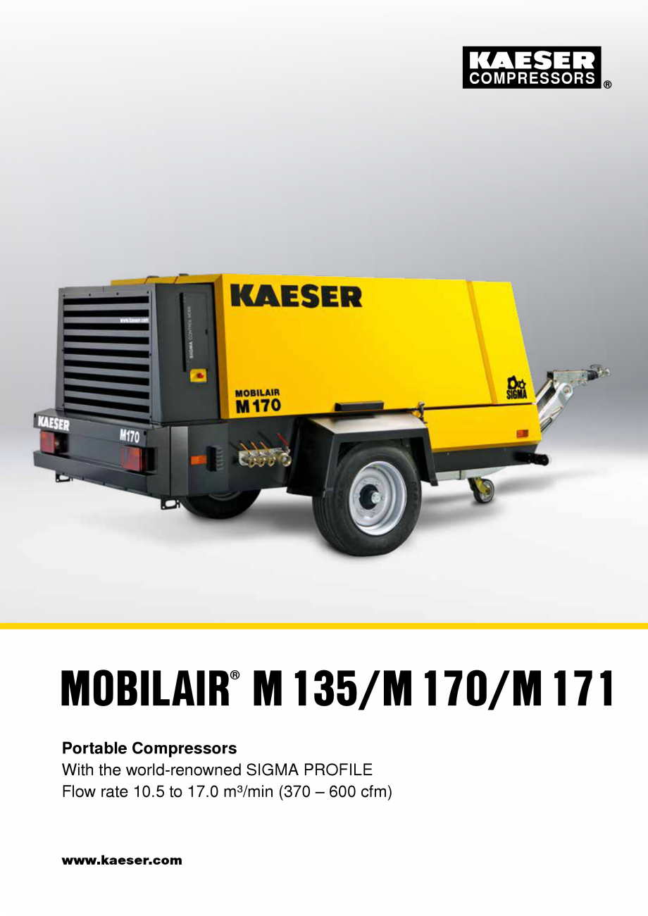 Pagina 1 - Seriile M135 – M171 KAESER KOMPRESSOREN Catalog, brosura Engleza COMPRESSORS ...