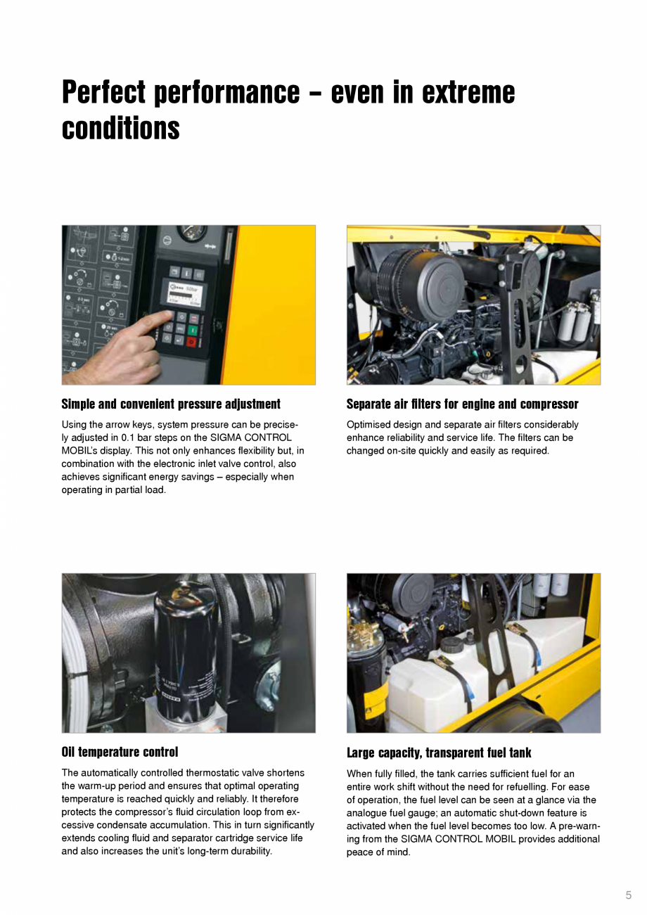 Pagina 5 - Seriile M135 – M171 KAESER KOMPRESSOREN Catalog, brosura Engleza tion, the fuel...