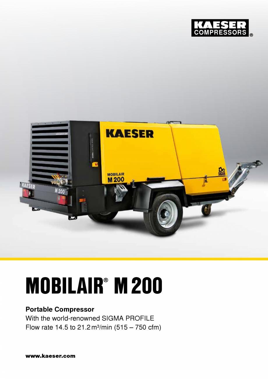 Pagina 1 - Seria M200 KAESER KOMPRESSOREN Catalog, brosura Engleza COMPRESSORS  MOBILAIR M200 ® ...