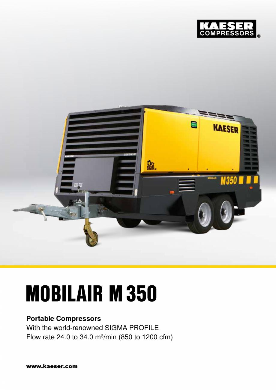 Pagina 1 - Seria M350 KAESER KOMPRESSOREN Catalog, brosura Engleza MOBILAIR M350 Portable...