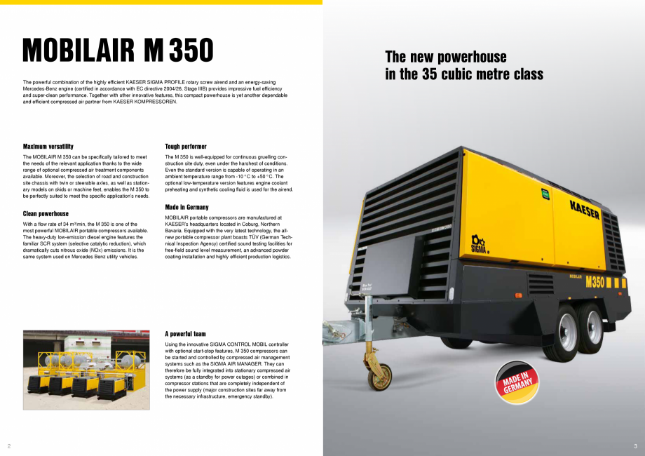 Pagina 2 - Seria M350 KAESER KOMPRESSOREN Catalog, brosura Engleza  application's needs.  The M...
