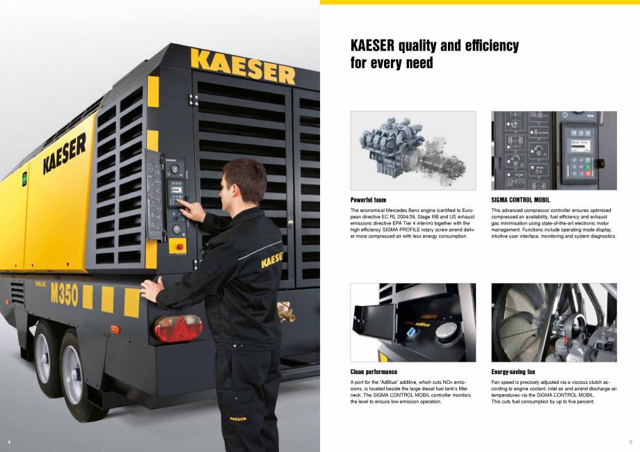 Pagina 3 - Seria M350 KAESER KOMPRESSOREN Catalog, brosura Engleza man Technical Inspection Agency) ...