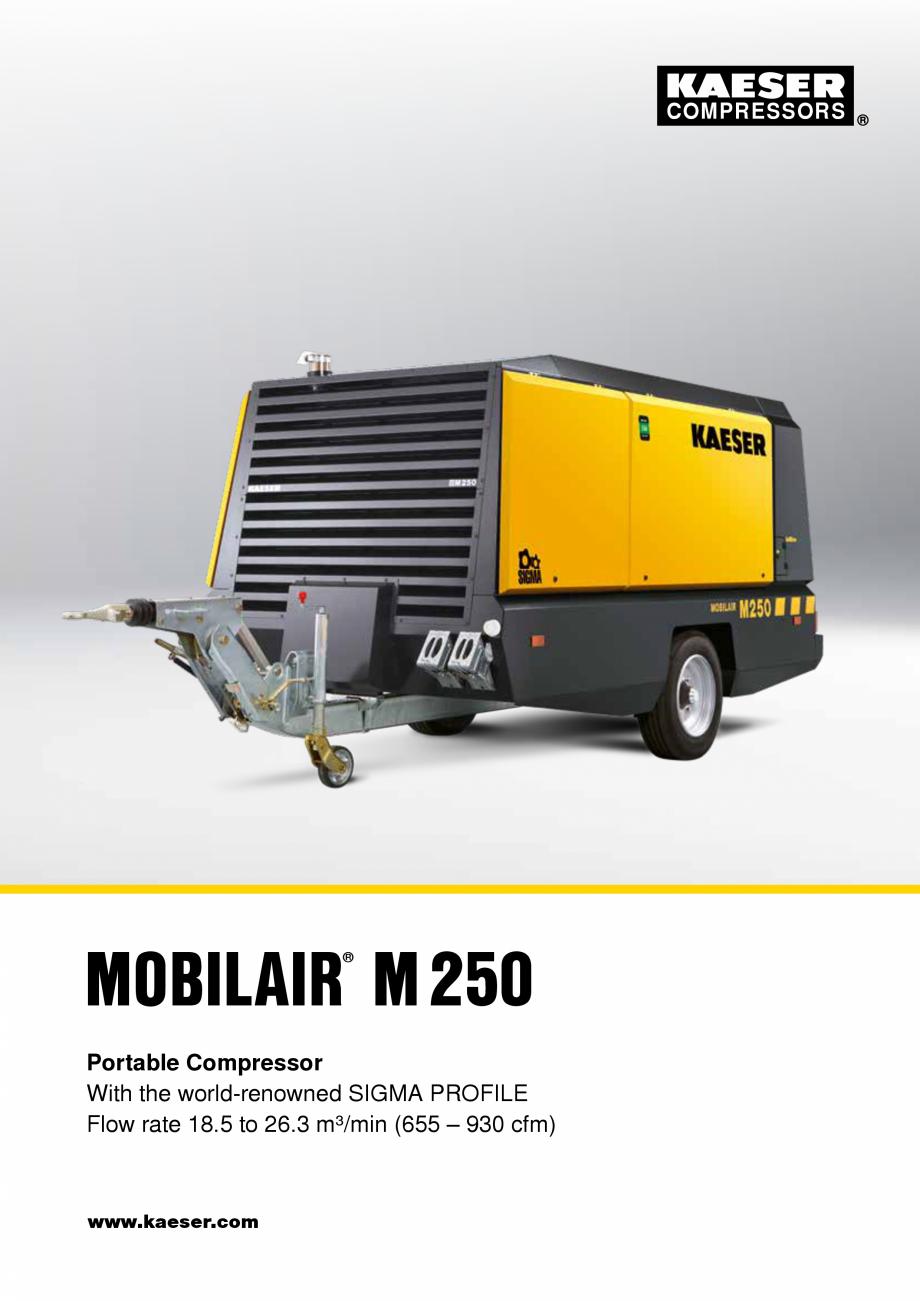 Pagina 1 - Seria M250 KAESER KOMPRESSOREN Catalog, brosura Engleza COMPRESSORS  MOBILAIR M250 ® ...