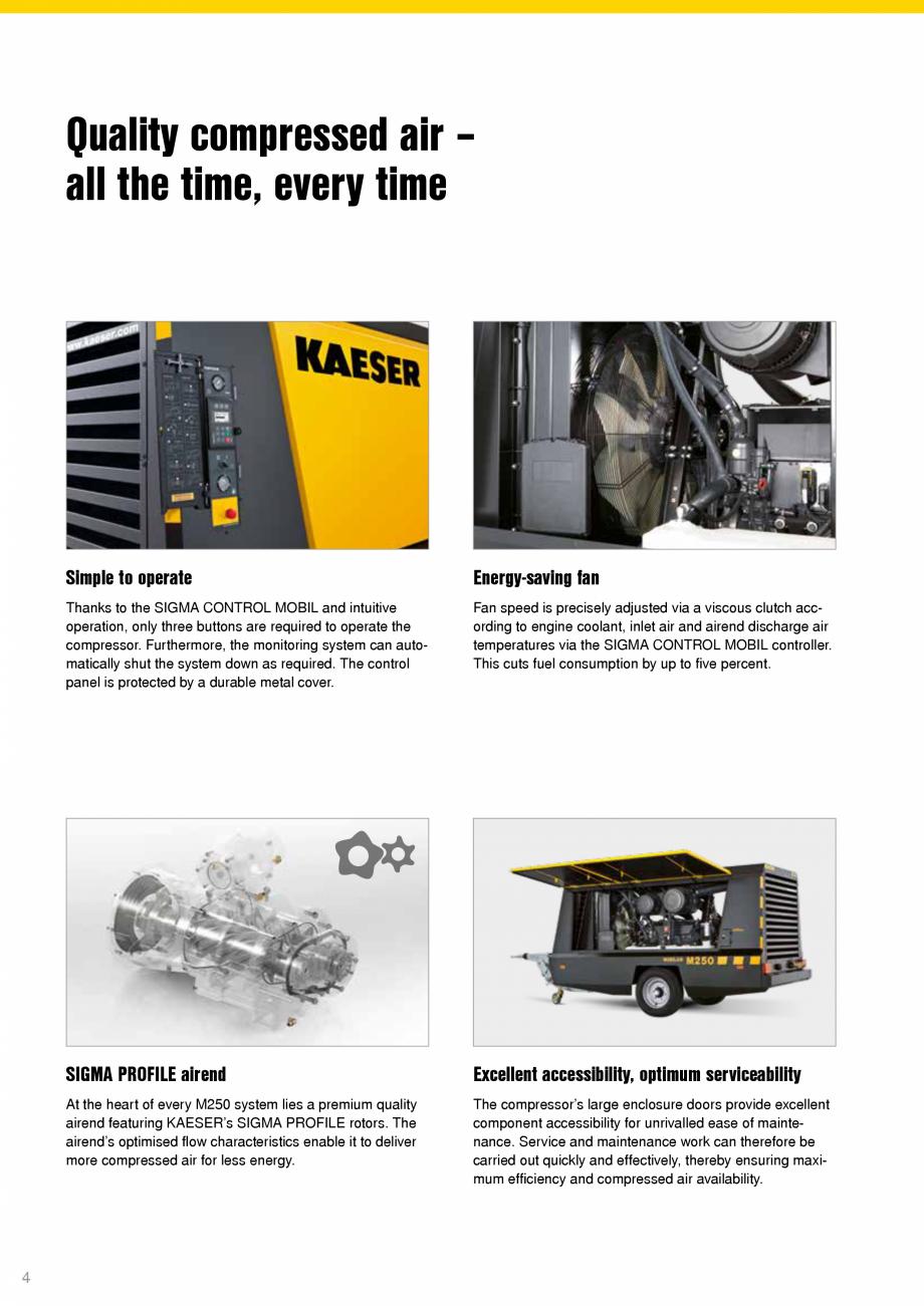 Pagina 4 - Seria M250 KAESER KOMPRESSOREN Catalog, brosura Engleza a premium quality airend...