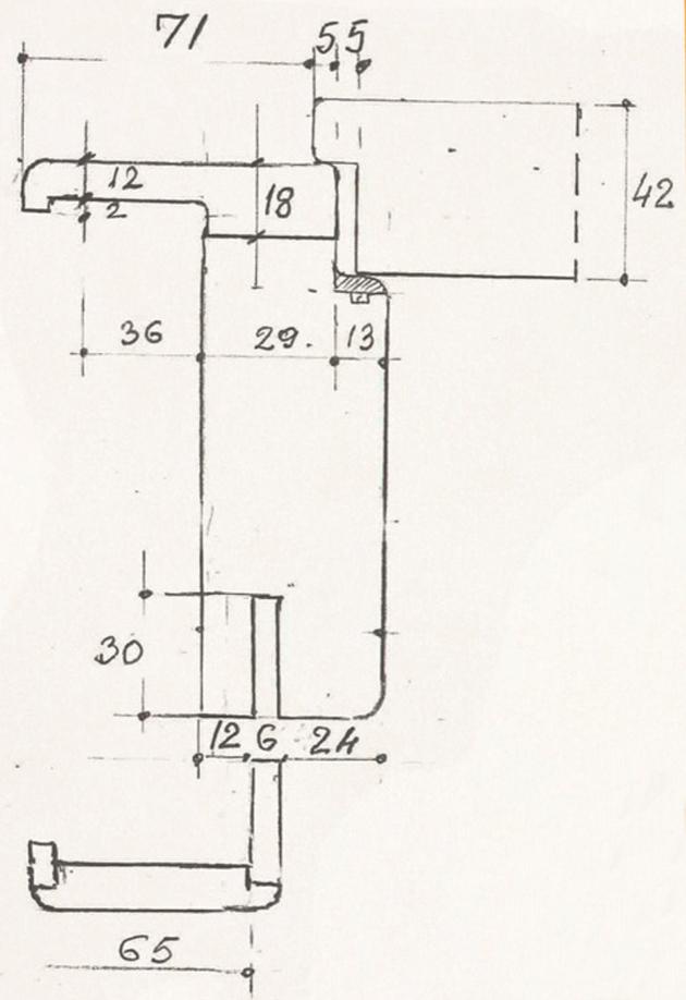 Schiță dimensiuni Usa interioara din lemn stratificat