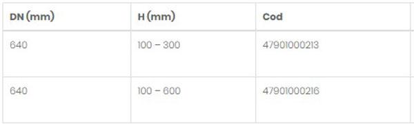 Schiță dimensiuni Telescop pentru cămine D1100