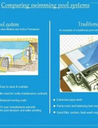 Comparatie intre sistemul traditional de piscine si sistemul Desjoyaux