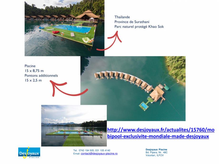 Pagina 4 - MOBIPOOL piscina plutitoare, exclusiv prin DESJOYAUX PISCINE  Catalog, brosura Romana...