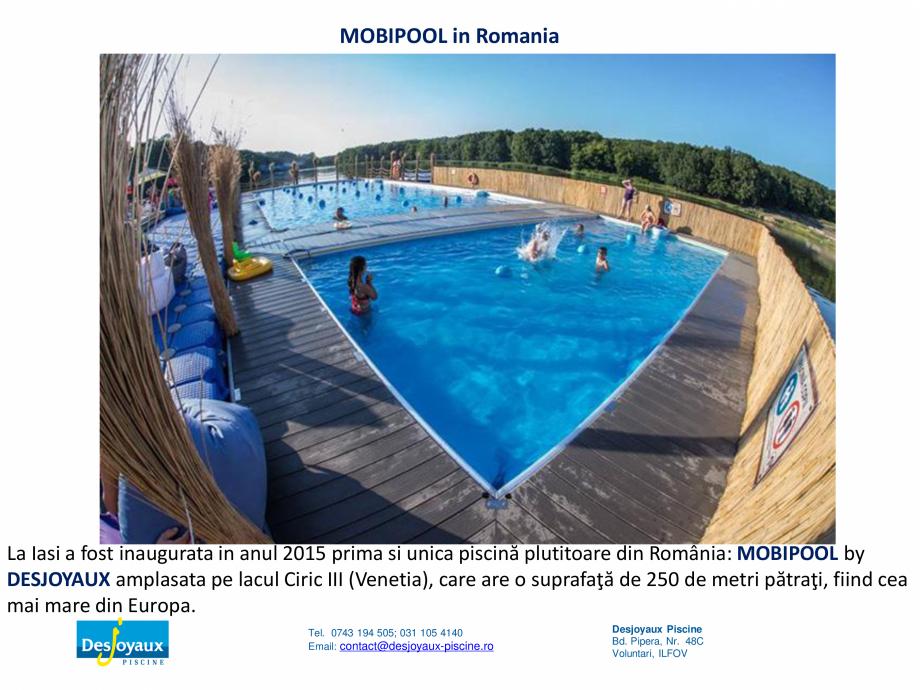 Pagina 5 - MOBIPOOL piscina plutitoare, exclusiv prin DESJOYAUX PISCINE  Catalog, brosura Romana os....