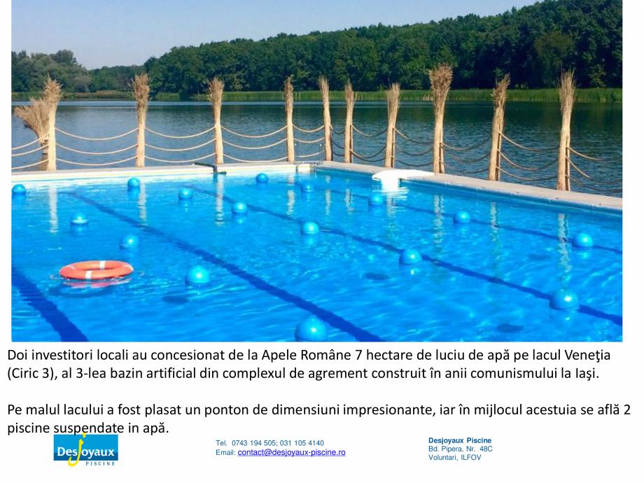 Pagina 6 - MOBIPOOL piscina plutitoare, exclusiv prin DESJOYAUX PISCINE  Catalog, brosura Romana