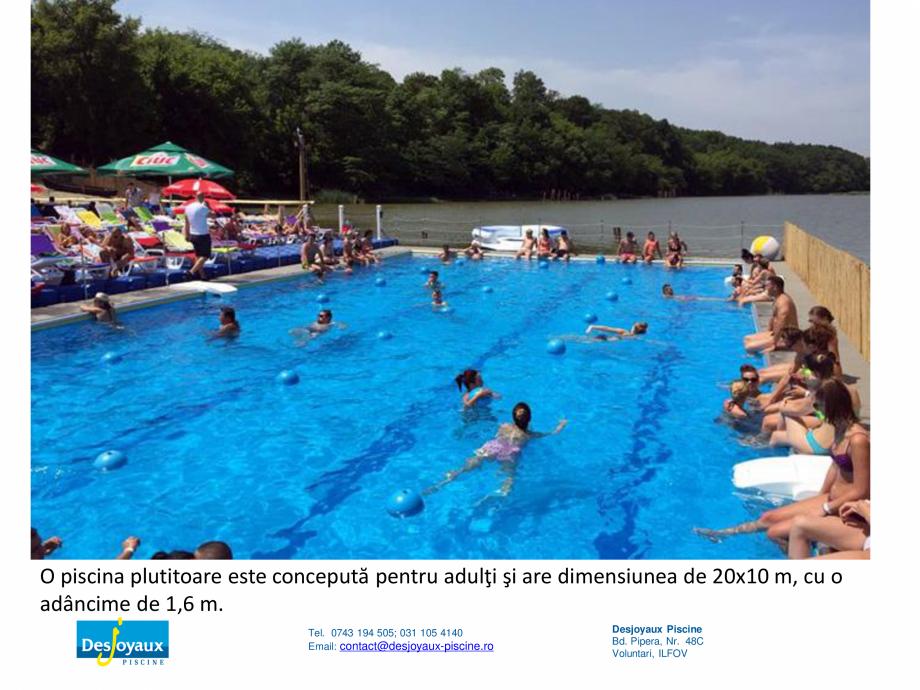 Pagina 7 - MOBIPOOL piscina plutitoare, exclusiv prin DESJOYAUX PISCINE  Catalog, brosura Romana