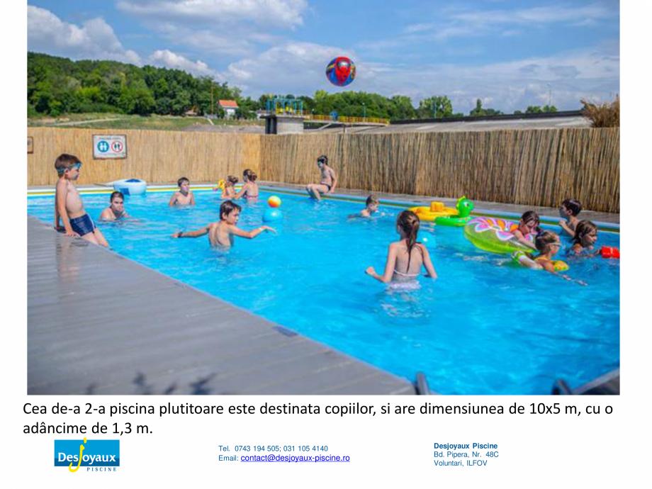Pagina 8 - MOBIPOOL piscina plutitoare, exclusiv prin DESJOYAUX PISCINE  Catalog, brosura Romana