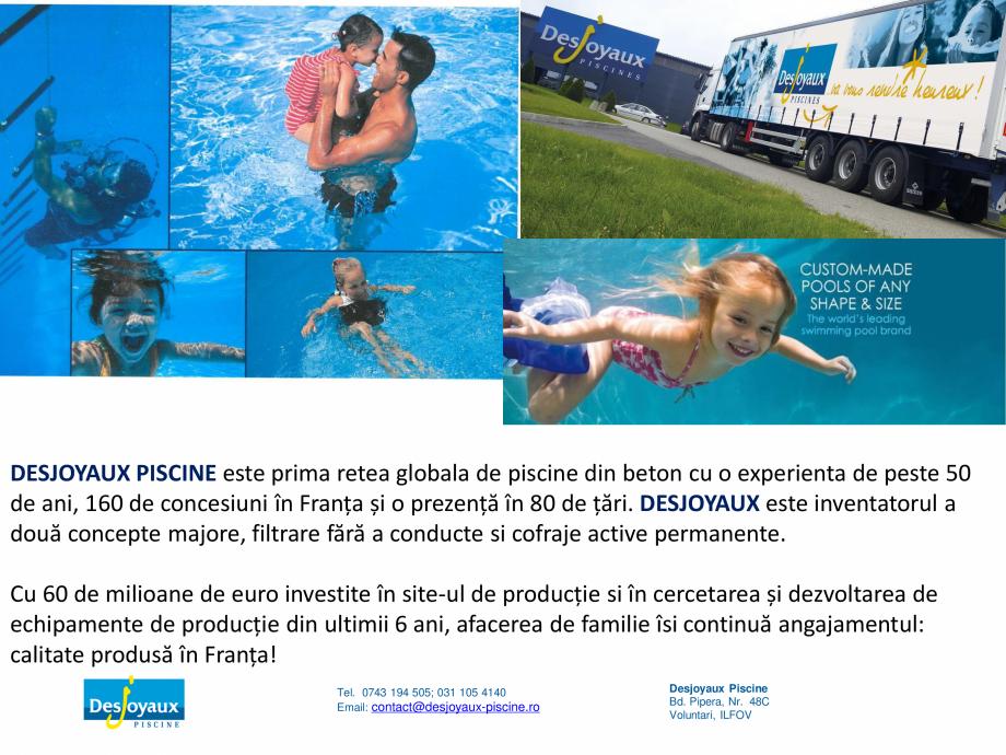 Pagina 10 - MOBIPOOL piscina plutitoare, exclusiv prin DESJOYAUX PISCINE  Catalog, brosura Romana