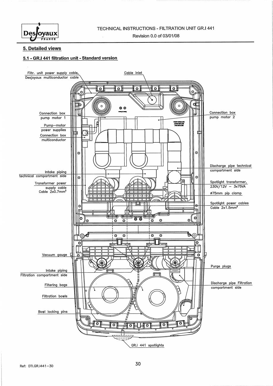 Pagina 10 - Sistem de filtrare cu filtru peste zid  DESJOYAUX GR.I 441 Instructiuni montaj,...