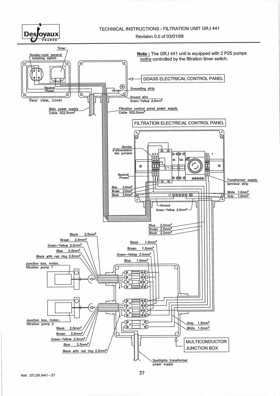 Pagina 17 - Sistem de filtrare cu filtru peste zid  DESJOYAUX GR.I 441 Instructiuni montaj,...