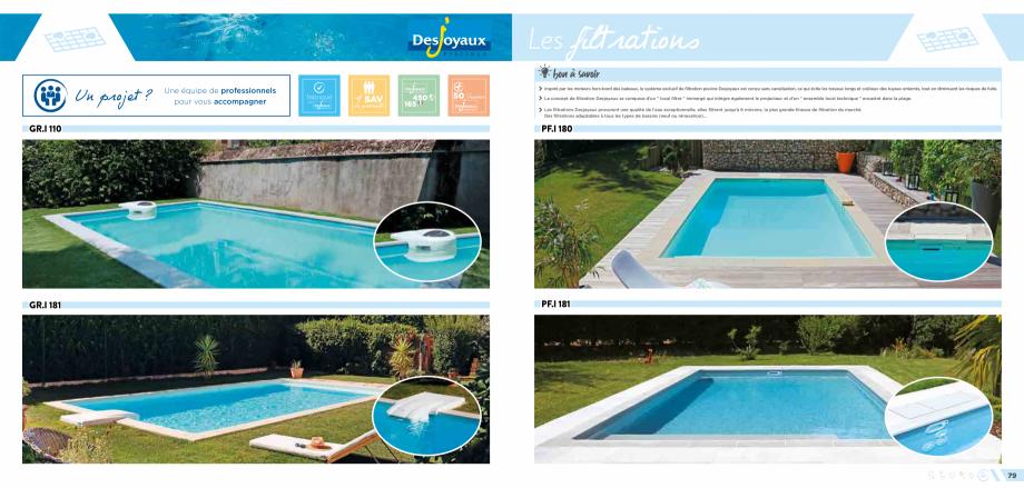 Pagina 1 - Sisteme de filtrare pentru piscine DESJOYAUX PF.I 181, PF.I 180, GR.I 110, GR.I 181...