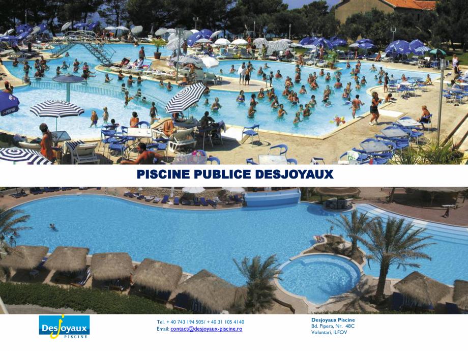 Pagina 1 - Piscine  DESJOYAUX cu utilizare colectiva Catalog, brosura Romana PISCINE PUBLICE...
