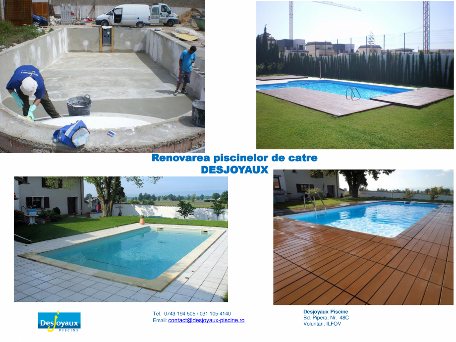 Pagina 3 - Construirea piscinei publice DESJOYAUX Catalog, brosura Romana