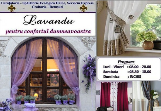 Servicii de curatare perdele si draperii Lavandu
