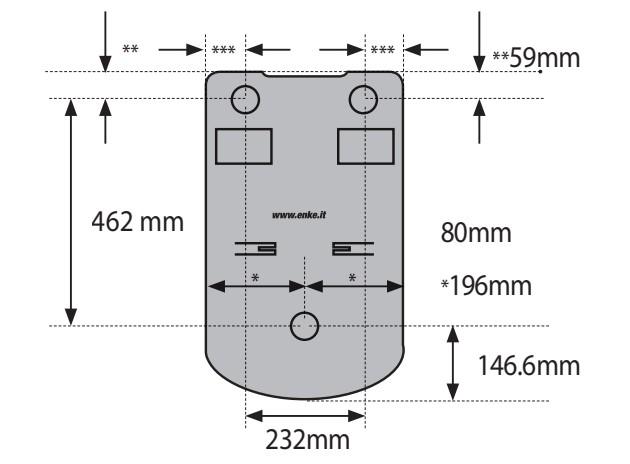 Schiță dimensiuni Unitate centrala de aspirare - Eva