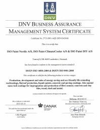 Certificat ISO 9001/ ISO 14001