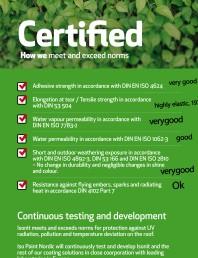 Certificat Iso Paint